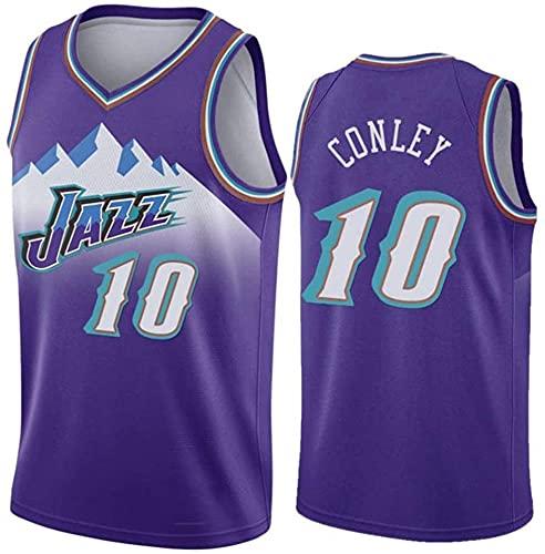 XZWQ Men's NBA Basketball Jersey- Mike10# Conley Unisex Basketball Jerseys Cómodo Bordado de Malla Basketball Jerseys Camiseta sin Mangas,Púrpura,XXL