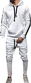 Maweisong Men 2 Piece Hoodie Jacket and Pants Sports Tracksuit Set