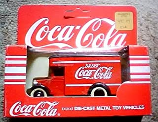Coca-Cola Red Die-Cast Metal Delivery Truck Toy Vehicle