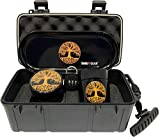 Tree of Life Stash Box Combo - Locking Smell Proof Case with Stash Jar and Rolling Tray - Ultimate Stash Combo! Odor proof Discrete Stash Container with Accessories (Tree of Life)