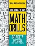 One-Sheet-A-Day Math Drills: Grade 7 Division - 200 Worksheets (Book 24 of 24) (English Edition)