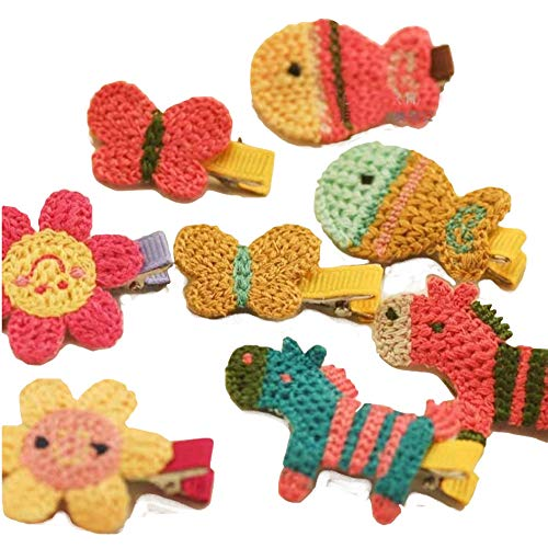 Ogquaton 13 Unids/set Mini Handmade Girls Horquilla Linda Forma de Dibujos Animados Pinza de Pelo Adorable Headwear para Niños Outfit Color Aleatorio