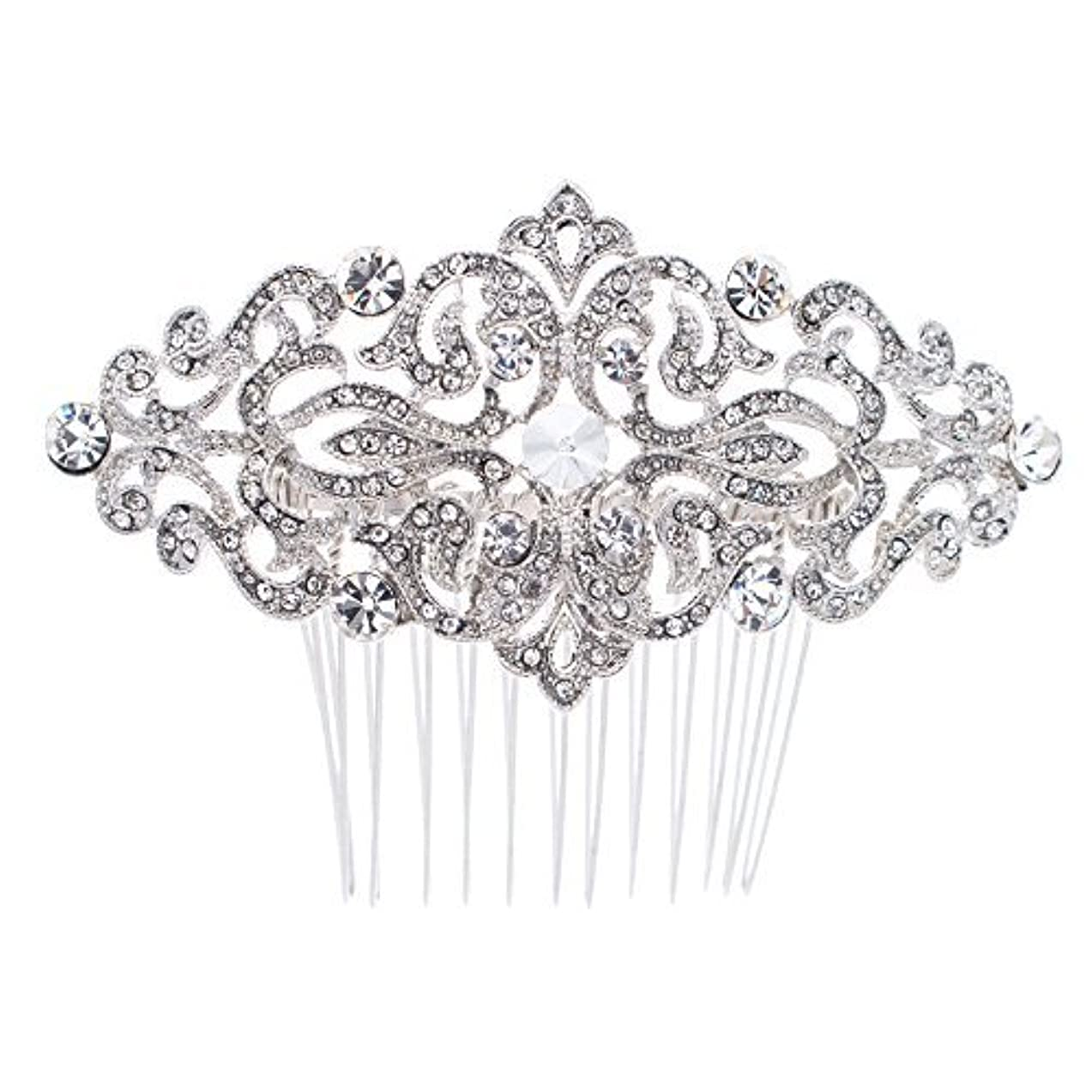腸本を読む家主Rhinestone Crystal Hair Comb,Bridal Wedding Hairpin,Side Hair Comb,Hair Accessories Jewelry FA5016 [並行輸入品]