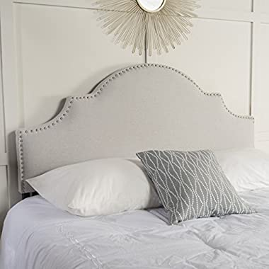 Annette Light Grey Fabric Queen/Full Headboard