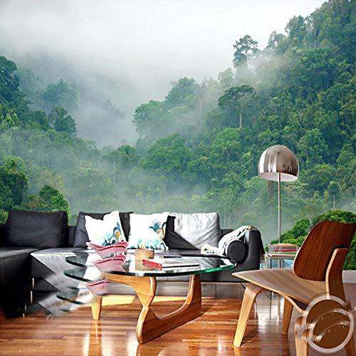 Nomte Natuur mist 3D bos behang 3D fotobehang voor woonkamer sofa achtergrond 3D muurafbeeldingen behang 450x300cm