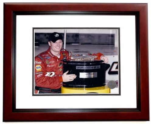 Dale Earnhardt Jr NASCAR Auto Racing Framed 8x10 Photograph Daytona 500 Trophy