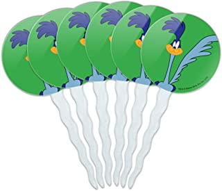 GRAPHICS & MORE Looney Tunes Road Runner Cupcake Picks Toppers Decoration Set of 6