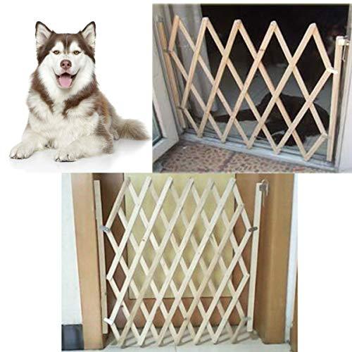TuToy opvouwbare hond poort veiligheid hek bescherming houten deur Puppy kat huisdier barrière veiligheid hek, S, 1