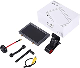 FairOnly Ⅳ 4 Built in DVR / III 3 Dual Receiver 5 inch 5.8G 48CH FPV HD Monitor Aerial FPV Display Screen for Drone gray Toys