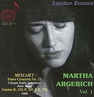 マルタ・アルゲリッチ Vol.1 ~ モーツァルト : ピアノ協奏曲 第21番 & ピアノ・ソナタ集 (Martha Argerich Vol.1 ~ Mozart : Piano Concerto No.21 | Sonatas K310, K333 & K576 / Cologne Radio Symphony , Peter Maag) (1960) [輸入盤]