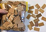 CEDAR Shake Shingle Wooden Roofing Craft Supplies for Buildings, Kits, Bird House, Scrap Booking, Doll Houses/Approximately 300 pc.