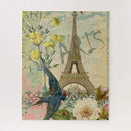 CICIDI Paris France Travel Graphic Art Collage Jigsaw Puzzle 1000 Pieces for Adult, Entertainment DIY Toys for Graet Gift Home Decor