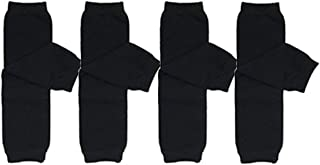 ALLYDREW 4 Pack Solid Baby Leg Warmer Set & Toddler Solid Leg Warmer Set for Boys & Girls