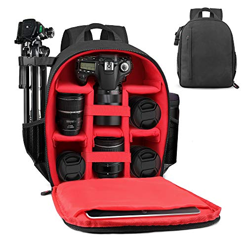 Camera Backpack LP Unisex Waterproof Equipment Photography Gears Bag Case for DSLR/SLR Camera Lens Tripod and Accessories Compatible with Nikon Canon Sony Olympus Panasonic and More