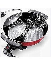 MUZIDP Mandarin Duck Pot, Olla eléctrica de Gran Capacidad para el hogar, Olla eléctrica de Pato de Mandarina eléctrica multifunción, Olla de cocción integrada de Wok eléctrico, Piedra médica de 8L