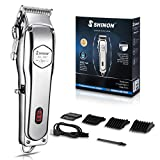 Professional Hair Clippers for Men, Quiet Cordless Hair Cutting Kit, Beard Trimmer Barber Hair Cut, Grooming Kit Machine with LED Display Rechargeable…