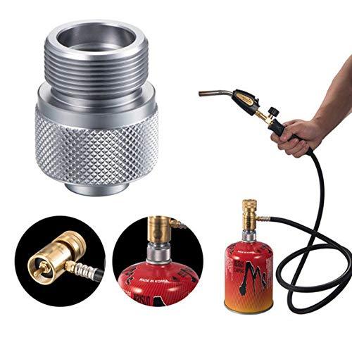 Etophigh Gas Tank Konverter, Camp Gas Converter Tragbare Gas Adapter Propangas Gerät Flache Gasflasche Outdoor Campingkocher Zubehör