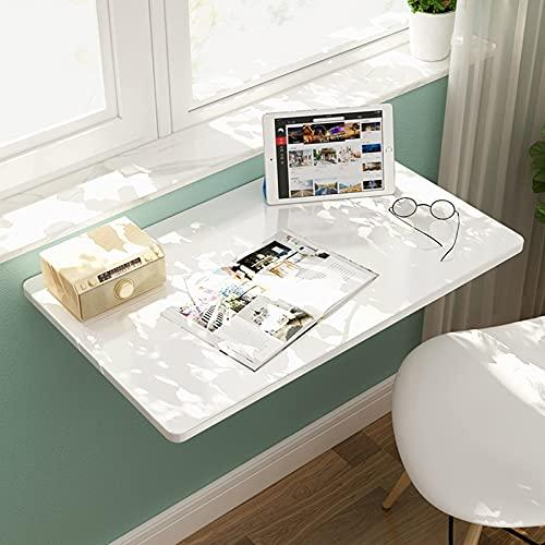 GTYT Escritorio para Ordenador Plegable Blanco 60cm 70cm 80cm 90cm 100cm 120cm...