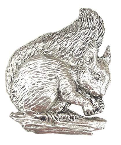 Eichhörnchen fein handgefertigt In der UK, Zinn, Pin-Anstecker