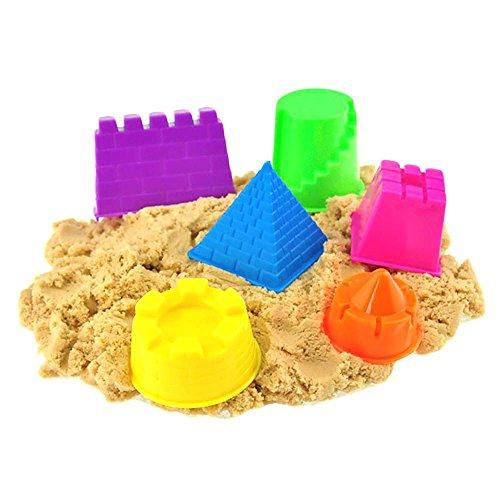 Mmrm Kleine Kinetic Sand Molding Werkzeuge 6Pcs Schloss Gebäudemodell Strand Spielzeug-Set für Kinder - zufällige Farbe