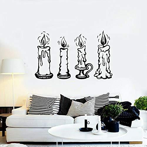 Tianpengyuanshuai Candlestick wandtattoo kaars lamp huis decoratie slaapkamer woonkamer vinyl raam sticker verwijderbare wandafbeelding