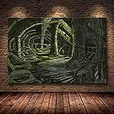 caoyuanbao Póster E Impresiones En Lienzo Skyrim The Elder Scrolls, Cuadro Artístico para Pared, Decoración, Pintura Sin Marco (40X50Cm) C1071