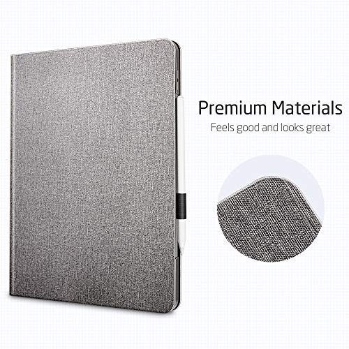 ESRiPadPro11ケース2020手帳型[ApplePencil2ワイヤレス充電対応]オートスリープ/ウェイクブックカバーデザイン角度調節可能なスタンドアーバンプレミアムフォリオケースiPad11インチ(2020)専用(グレー)