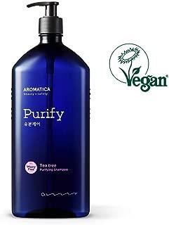 AROMATICA Tea tree Purifying Shampoo 900ml / 30.43oz, Jumbo Size, Vegan, Sulfate Free, Silicone Free