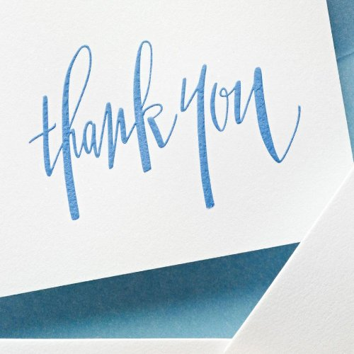 Crane & Co. Hand Engraved Newport Blue Thank You Notes (CT1313) Photo #2