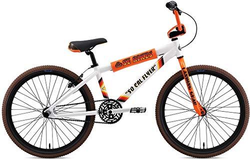 SE Bikes So Cal Flyer 24R BMX Bike 2020 (32cm, White)