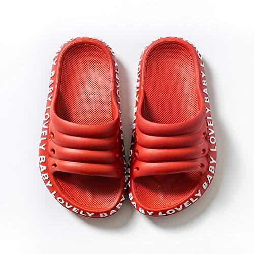 Ainslever Kinderschuhe Äußerer Verschleiß Caterpillar Hausschuhe Badezimmer rutschfest Weicher Boden Kind Haushaltssandalen und Hausschuhe,Rot,190