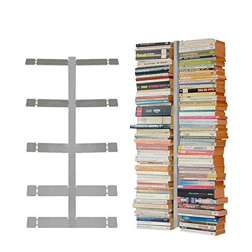 Radius Design booksbaum Double Wand klein Silber, 2tlg. Best.aus: Halterung + Einlegeböden [W]