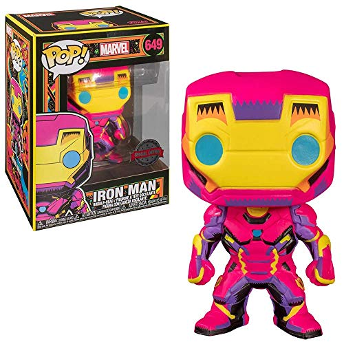 POP Funko Marvel 649 Iron Man Blacklight Special Edition