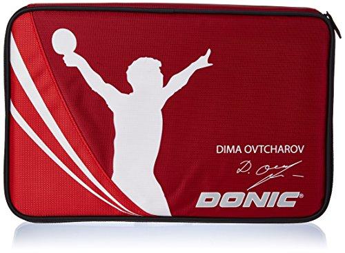 Donic-Schildkröt Tischtennis Schlägerhülle Ovtcharov Plus, Schlägerhülle für bis zu zwei Schläger, extra Ballfach, 818539