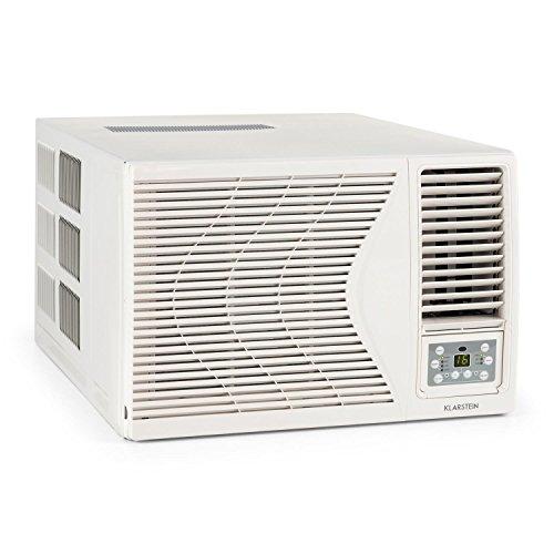 Klarstein Frostik 12 - Climatiseur fenêtre, 12000 BTU, 16 et 30 °C, Classe d'efficacité énergétique A, Ventilateur intégré à 4 niveaux, blanc