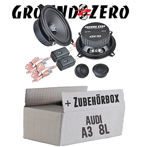Ground Zero GZIC 13X Kompo - 13cm Lautsprecher System - Einbauset für Audi A3 8L - JUST Sound Best Choice for caraudio