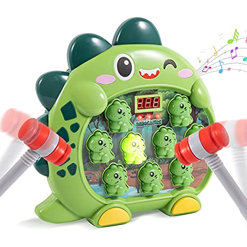 Whack A Mole Game Toddler Toy with 2 Hammers Dinosaur Hammering Pounding Toys for Age 3 4 5 6 7 Years Old Kids