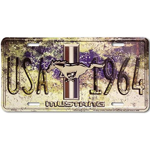 Signs 4 Fun SL50153 Ford Mustang 1964 License Plate
