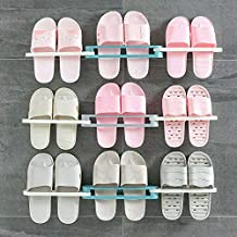 MOSHTU Wall Mounted Folding Slippers Rack Shoes Stand (Multicolor) (1 Pcs)