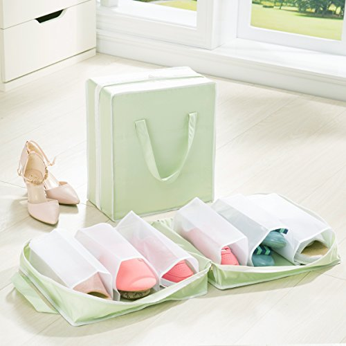 Vert : Chaussures Sac de rangement et sac à poussière Sac de voyage portable double Sac à chaussures Organiseur