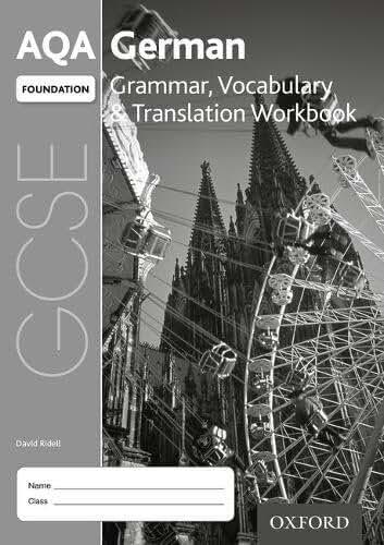 AQA GCSE German Foundation Grammar, Vocabulary & Translation Workbook (Pack of 8)