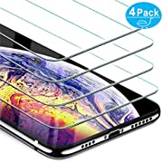 Beikell Screen Protector for iPhone XS Max, [4-Pack] Premium Tempered Glass Screen Protectors for iPhone XS Max 6.5 inch - 9H Hardness, Anti Scratch, No Bubbles, High Definition, Easy To Apply