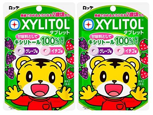 オーラルケア しまじろう キシリトールタブレット(グレープ・イチゴ) 1袋(30g) ×2袋