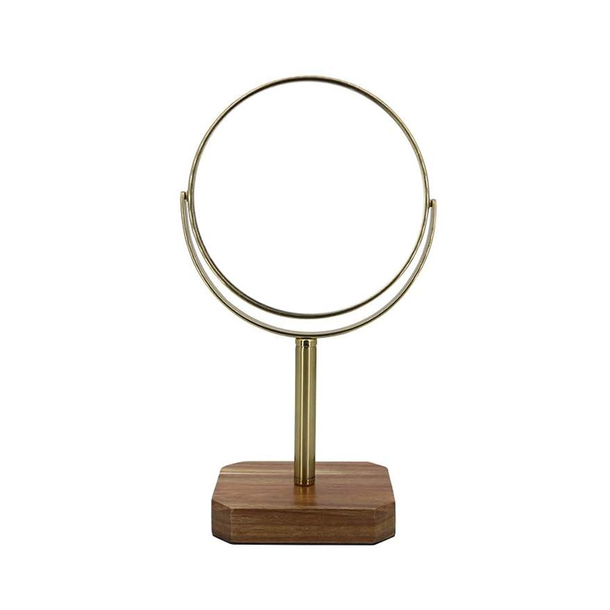 階下ファイバ脚本家.化粧鏡 化粧鏡、3倍拡大鏡360°回転ウッドベース、HDテーブルトップビューティーミラープリンセスミラー、バニティテーブルバスルームベッドルームホテル ED化粧鏡1倍/ 2倍/ 3倍/ 5倍/ 10倍拡大鏡ポ