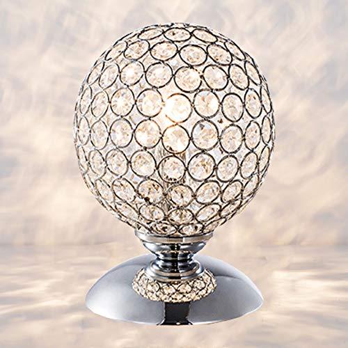 LIUNIAN Silberkristalle Tischlampe Sphärisches Nachtlicht Dimmbare LED-Nachttischlampe mit Touch-Sensor-Touch-Funktion für die Inneneinrichtung von Wohnzimmer und Schlafzimmer