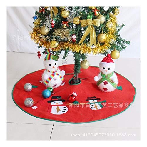 SDSQSCL Albero di Natale Gonna Cartoon Pupazzo di Neve di Natale Pattern Decorazioni Natalizie Decorazioni di Natale Home Casa Decor