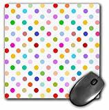 colorful polka dots pattern mousepad - white
