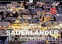 Sauerlaender Fachwerkidylle (Wandkalender 2022 DIN A4 quer): Fachwerkhaeuser im Sauerland (Geburtstagskalender, 14 Seiten )