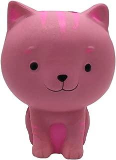 YouNかわいいシミュレーション漫画の猫PUゆっくり上昇スクイズ圧縮玩具(ピンク)