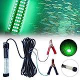 Lixada 10W 180 LED Subacuático Sumergible Luz de Pesca Nocturna (Verde) Pesca Submarina Luz de Peces 12V Luz Sumergible con Cable de 5 m para la pesca tanto en agua dulce como salada